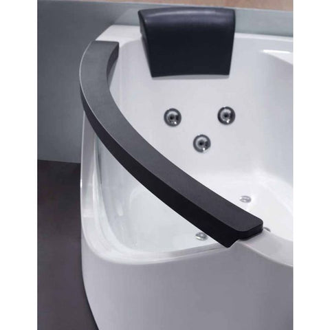 Image of EAGO AM198ETL-R 5 ft Clear Rounded Right Corner Acrylic Whirlpool Bathtub - Jet Springs
