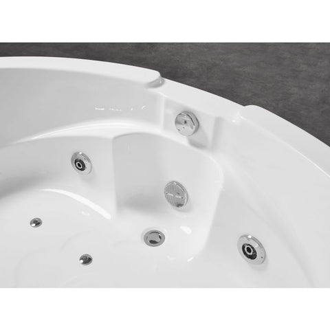 EAGO AM505ETL 5 ft Corner Acrylic White Waterfall Whirlpool Bathtub for Two - Jet Springs