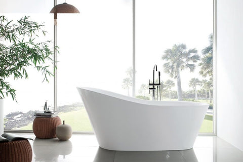 Ella Ibiza 70 Ultra Air Jet Massage System Acrylic Freestanding Bathtub - Jet Springs