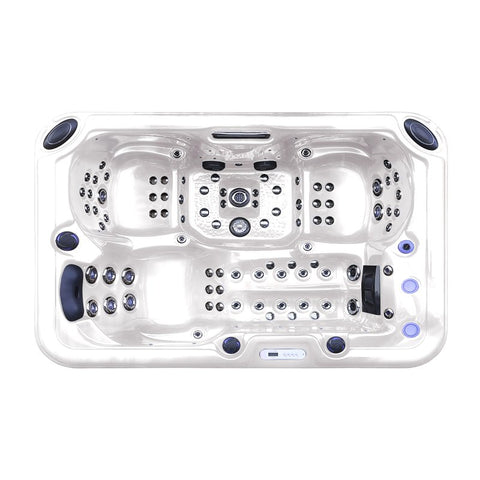 Image of Hurricane 3-Person 81-Jet Hot Tub with LED Light - Jet Springs