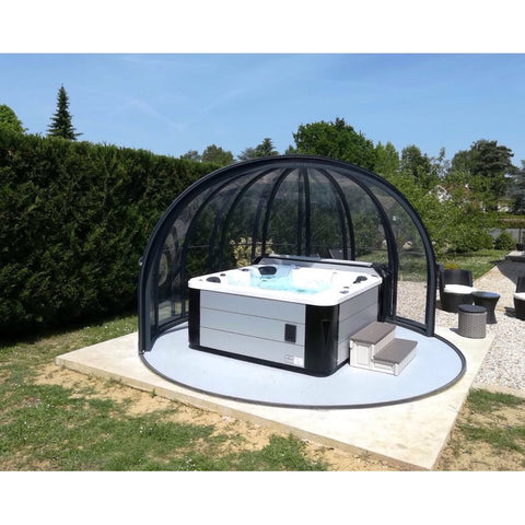 Hurricane 3-Person 81-Jet Hot Tub with LED Light - Jet Springs