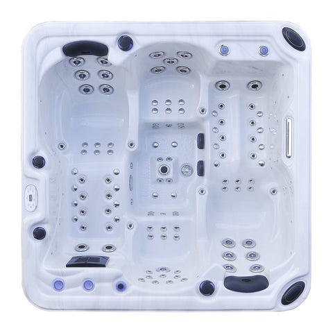 Image of Hurricane 4-Person 102-Jet Hot Tub with LED Lights, Bluetooth and Wi-Fi - Jet Springs