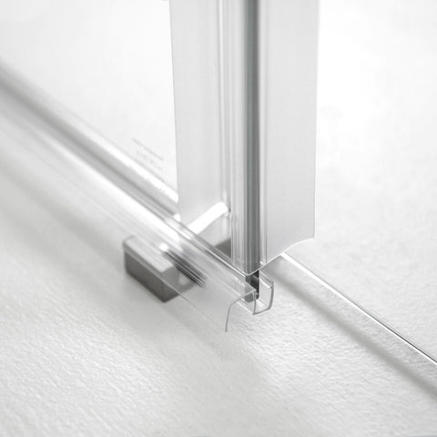Primo 8mm Brushed Nickel Tempered Glass Sliding Door - Jet Springs