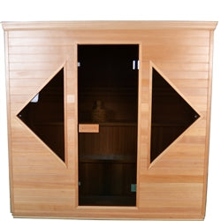 Image of ALEKO Canadian Hemlock Indoor Wet Dry Sauna - 4.5 kW ETL Certified Heater - 4 to 5 Person - Jet Springs