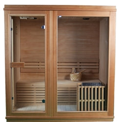 ALEKO Canadian Hemlock Indoor Wet Dry Sauna - 4.5 kW ETL Certified Heater - 4 Person - Jet Springs