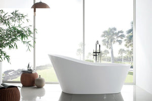 Ibiza Acrylic Freestanding Oval Infusion™ Microbubble Therapy Bathtub - Jet Springs