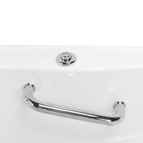 "Image of Ella Zen 52"" Acrylic Outward Swing One-Person Walk-In Bathtub in White: Soaking and Faucet type - Jet Springs"