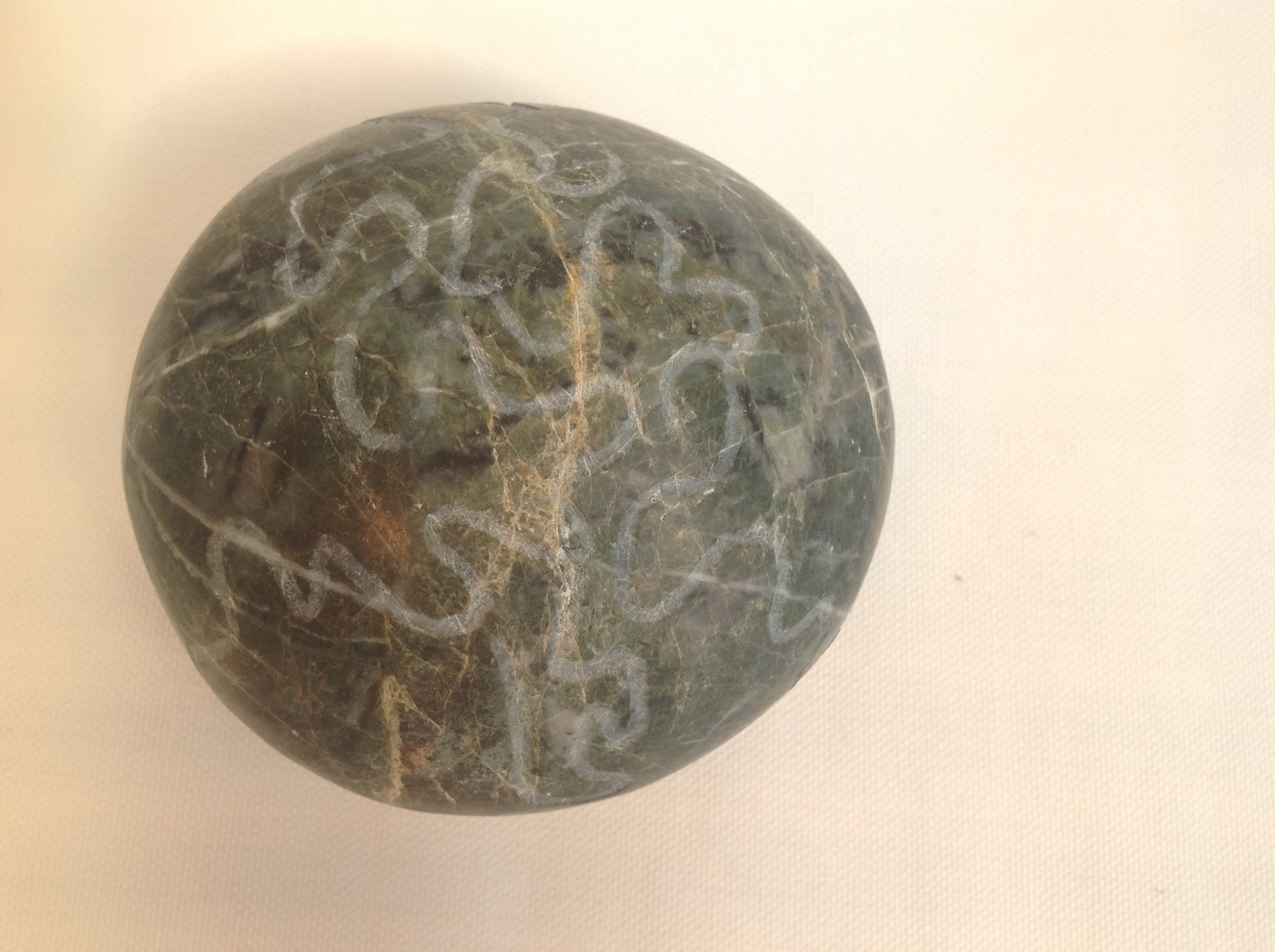 Green marbled paperweight