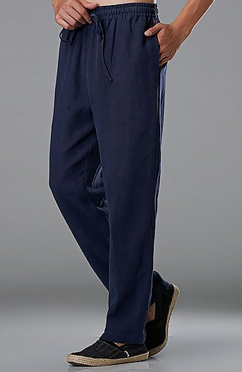 Improved Blue Commoner Chinese Tai Chi Kung Fu Pants