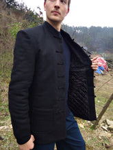 Load image into Gallery viewer, Black 100% Sheep Wool Winter Jacket