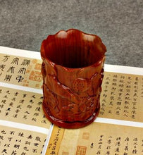 Load image into Gallery viewer, Handcarved Wooden Cup for Calligraphy Brushes