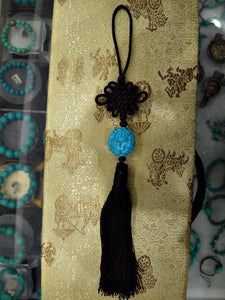 Tai Chi Jian Tassel with Blue Stone