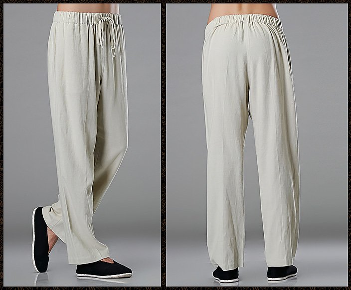 Grey Commoner Chinese Tai Chi Kung Fu Pants