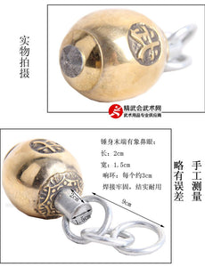 Wu Sign Copper Watermelon Meteor Hammer Rope