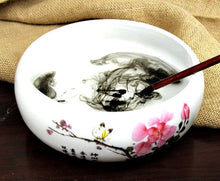 Load image into Gallery viewer, Calligraphy Brush Washing Cup Plum Blossom