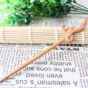 Wudang Taoist Monk Hand Carved Bud Hairpin