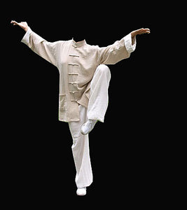 Ip Man Style Wing Chung Kung Fu Suit with White Cuffs
