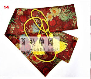 Genuine Silk Tai Chi Sword Bags with Tassels in All Variations