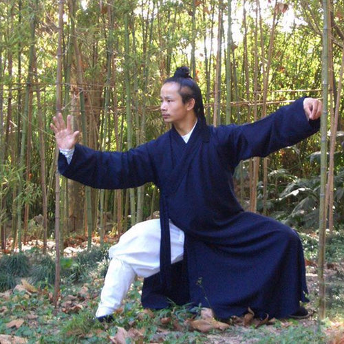 Traditional Taoist Silk and Linen Wudang Tai Chi Uniform Open Arms for Men and Women