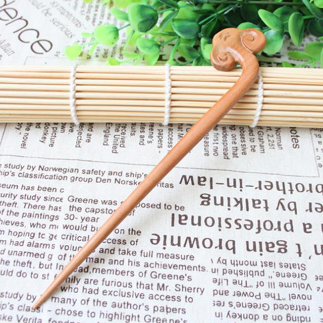 Wudang Taoist Monk Hand Carved Cloud Hairpin