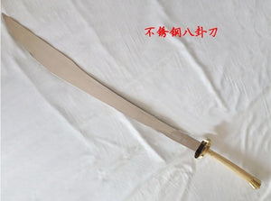 Stainless Steel Bagua Dao With Bright Wooden Handle