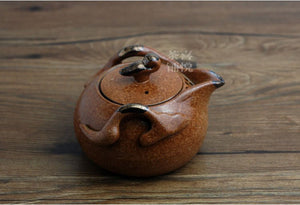 Japanese Earth Look Stone Ceramic Tea Pot