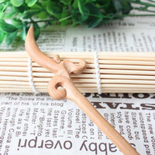 Load image into Gallery viewer, Wudang Taoist Monk Hand Carved Bud Hairpin