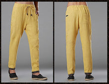 Load image into Gallery viewer, Yellow Commoner Wind Cuffs Low-Crotch Carrot Pants