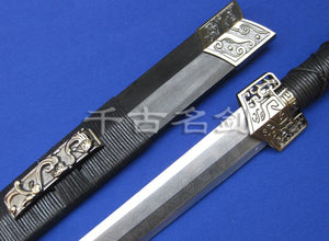 Authentic Octahedral Han Jian with Steel Pattern