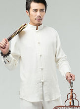 Load image into Gallery viewer, White Commoner Chinese Kung Fu Style Men's Shirt