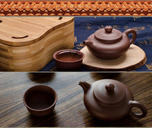 Load image into Gallery viewer, Portable Bamboo Kung Fu Tea Set
