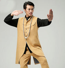 Load image into Gallery viewer, Yellow Commoner Chinese Style Men's Long Vest Jacket