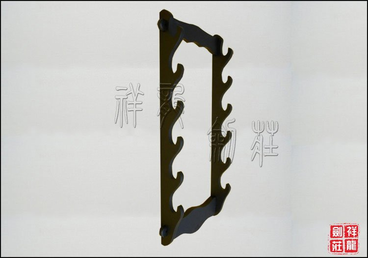 Black Hanging Sword Shelf for 6 Weapons