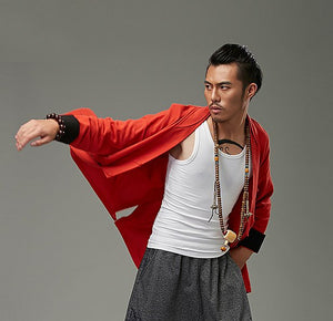 Red Chinese Style Kung Fu Jacket