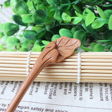 Load image into Gallery viewer, Wudang Taoist Monk Hand Carved Leaf Hairpin