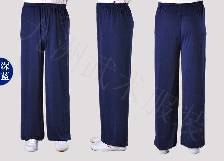 Navy Blue Stretchable Tai Chi Pants Unisex