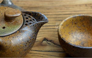 Japanese Earth Look Stone Ceramic Tea Set