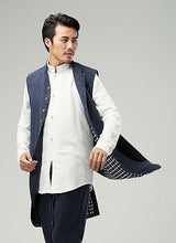 Load image into Gallery viewer, Blue Commoner Chinese Style Men's Long Vest Jacket