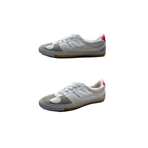 [Oversize available] Qingdao Double Star White Kung Fu Shoes With Net/Leather