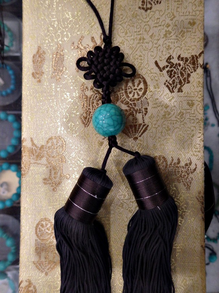 Long Brown Taiji Jian Tassel