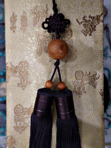 Long Sword Tassel with Wooden Ball