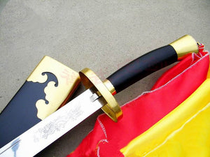 """Dragon & Phoenix"" Wushu Dao With Black Scabbard (Kung Fu Dao)"