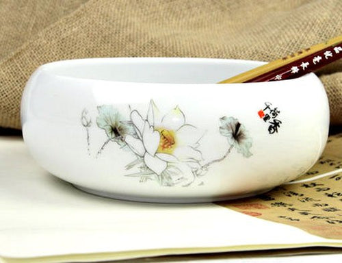 Calligraphy Brush Washing Cup Lotus Flower