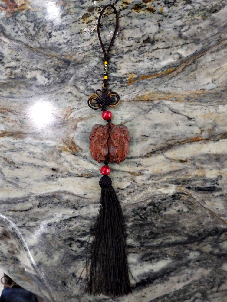 Hand Woven Tai Chi Sword Tassel Wooden Dragons
