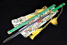 Load image into Gallery viewer, Real Shark Skin Green Scabbard Tang Dynasty Elite Jian