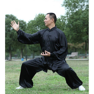 Tai Chi Clothing Silk-like Fabric Black
