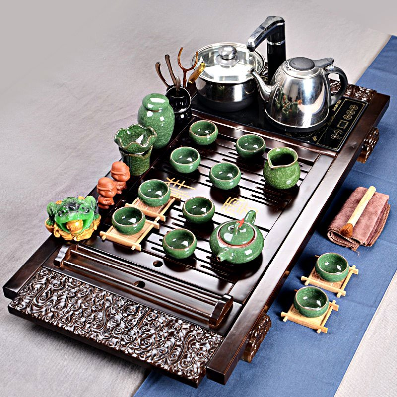 Big Traditional Tea Set with Electric Cooker and Pot