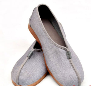 [Size 35-45] Traditional Grey Shaolin Monk Kung Fu Shoes
