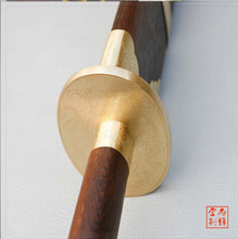 "Load image into Gallery viewer, Quanjian King Rosewood Stainless Steel Bagua Dao ""Peony"""