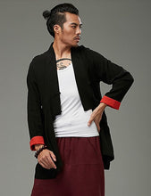 Load image into Gallery viewer, Black Chinese Style Kung Fu Jacket